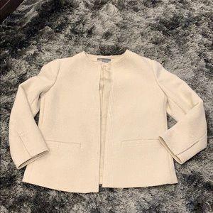 VINCE Cream Tweed Jacket Size 4 NWOT